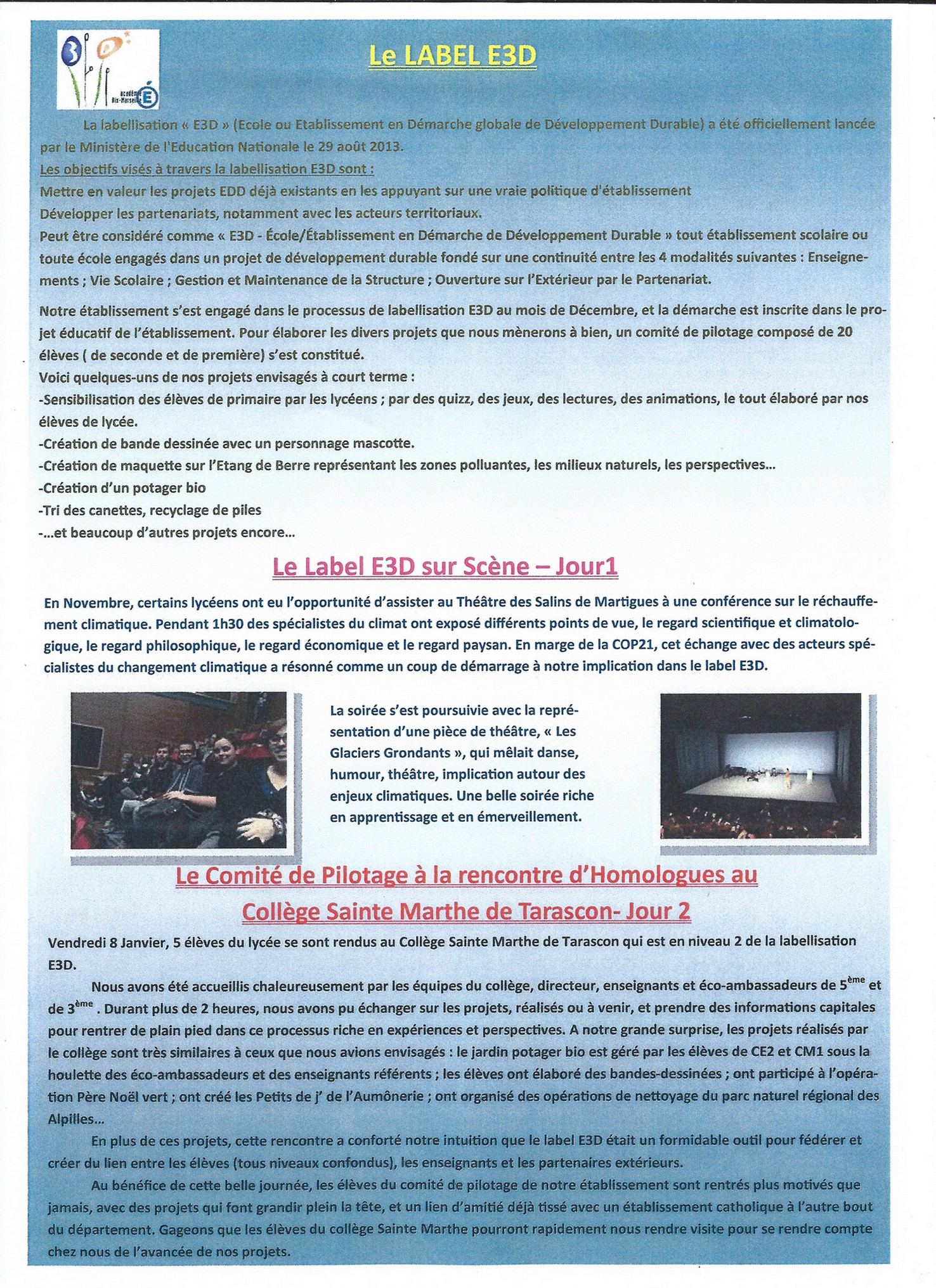 exercice lycee developpement durable seconde main